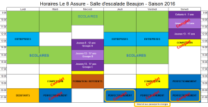 Calendrier 2016 Aout